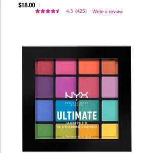 nyx ultimate brights palette
